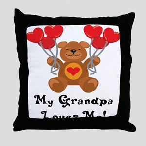 My Grandpa Loves Me! Throw Pillow