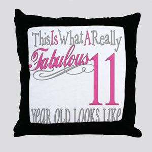 11th Birthday Gifts Throw Pillow