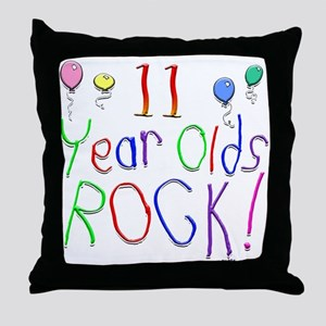 11 Year Olds Rock ! Throw Pillow