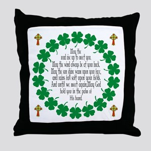 Irish Prayer Blessing Throw Pillow