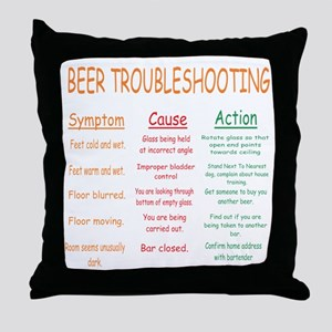 Beer Troubleshooting Throw Pillow