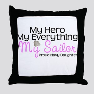 My Everything Navy Daughter Throw Pillow