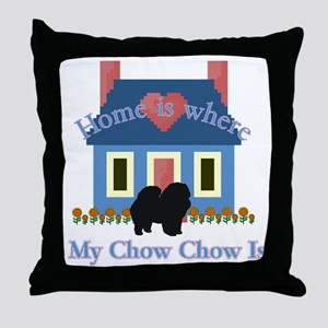 Chow Chow Home Is Throw Pillow