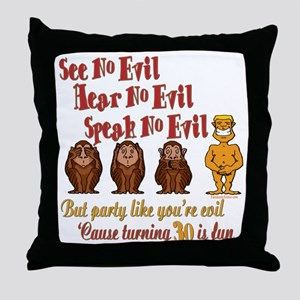 Party 30th Throw Pillow