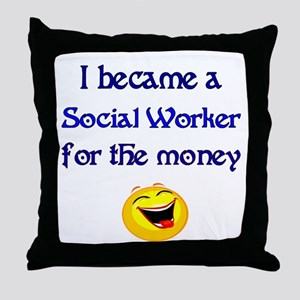 Laughing Social Worker Throw Pillow