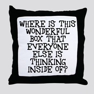 where is this wonderful box Throw Pillow