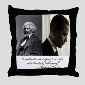 Douglass-Obama Throw Pillow