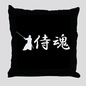 Samurai spirit Throw Pillow
