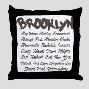 Brooklyn Hoods Throw Pillow