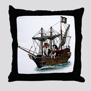 Biscuit Pirates Throw Pillow