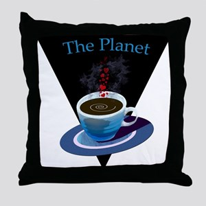 The Planet Coffee House Throw Pillow