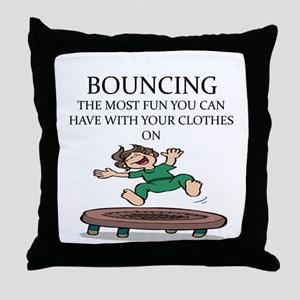 i love trampolines Throw Pillow