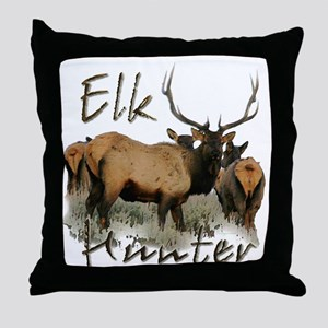 Elk Hunter Throw Pillow