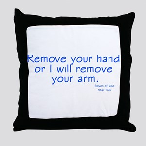 Star Trek Seven of Nine Remove hand Throw Pillow