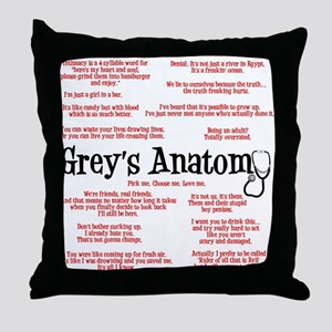 Grey's Anatomy Quotes Throw Pillow