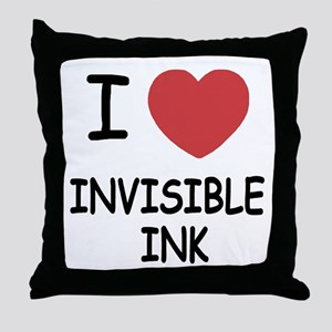 I heart invisible ink Throw Pillow