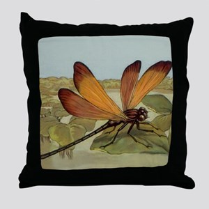 Dragonfly Painting Throw Pillow
