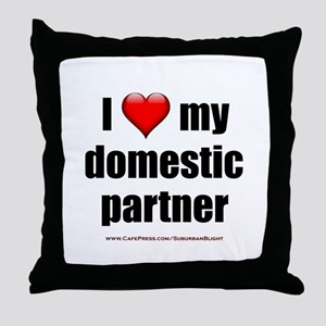 """Love Domestic Partner"" Throw Pillow"