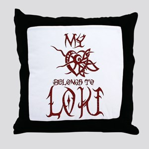 My Heart Belongs to Loki Throw Pillow