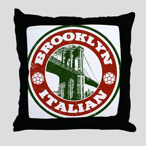 Brooklyn New York Italian Throw Pillow