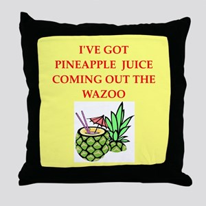 pineapple juice Throw Pillow