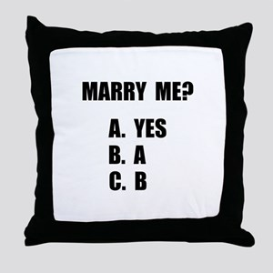 Marry Me Throw Pillow