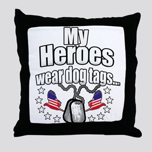 my heroes wear Throw Pillow