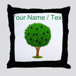 Custom Mulberry Bush Throw Pillow