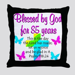 85th LOVE GOD Throw Pillow