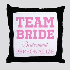 Team Bride | Personalized Wedding Throw Pillow