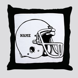 Customize a Football Helmet Throw Pillow