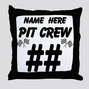 Pit Crew Throw Pillow