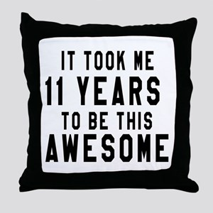 11 Years Birthday Designs Throw Pillow