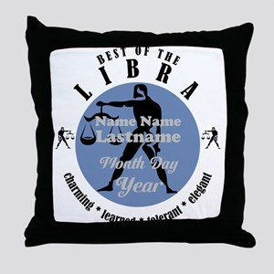 Custom Text Libra Horoscope Zodiac Sign Throw Pill