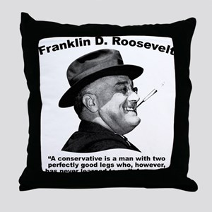 FDR: Conservatives Throw Pillow