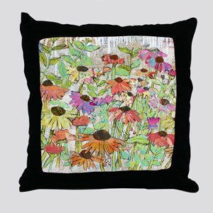 Floral Daisy Spring Throw Pillow