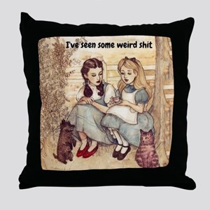 Dorothy and Alice Throw Pillow