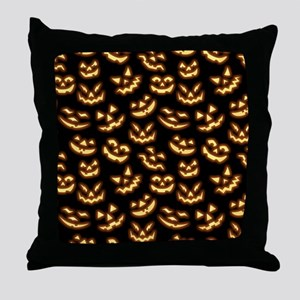 Creepy Smiles Throw Pillow