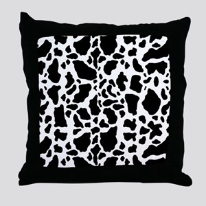 Cow Print Pattern Throw Pillow