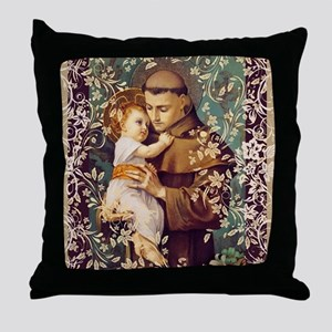 Saint Anthony Throw Pillow