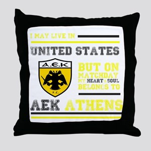 AEK FC USA Throw Pillow