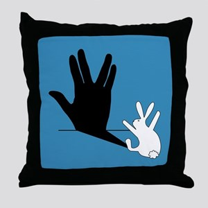 Star Trek Rabbit Vulcan Hand Shadow Throw Pillow