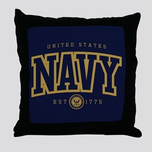 United States Navy Athletic Throw Pillow