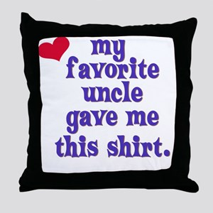 favorite-uncle Throw Pillow