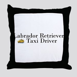 AllLabTaxiDriver Throw Pillow