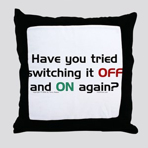 Switch On/Off. Throw Pillow