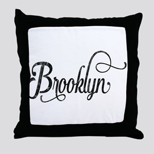 Brooklyn vintage typography Throw Pillow