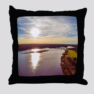Peconic River Throw Pillow