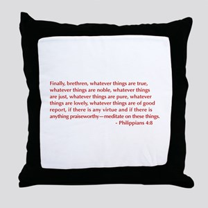Philippians-4-8-opt-burg Throw Pillow