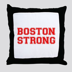boston-strong-car-red Throw Pillow